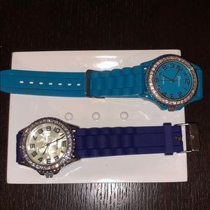 Geneva rubber watches with embellished trim